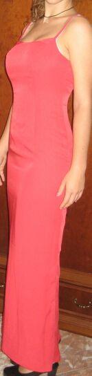 vestido largo rojo tirantas