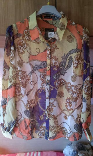 Camisa blusa mujer estampada PRIMARK nueva
