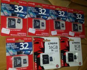 Tarjetas de memoria SD HC 128, 64, 32, 16, 8 GB
