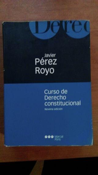 Libro Derecho Constitucional Javier Perez Royo