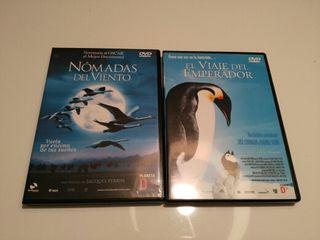 2 Dvd: Viaje del emperador y Nomadas del viento