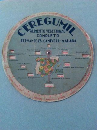 antiguo disco geografico de españa