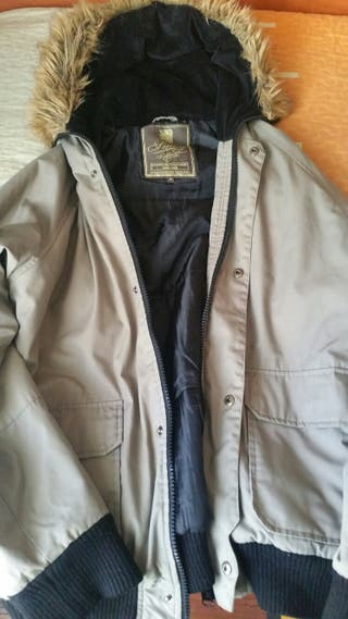chaqueta gris pelo talla M