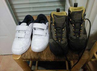 Botas Quechua y zapatillas.