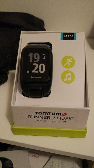 TomTom Runner 2 Music + Banda pulsometro + cascos