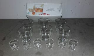 vasos Whisky y chupito