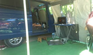 avance de camping para furgoneta