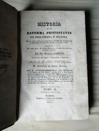 1827. Hª de la Reforma Protestante. T.II