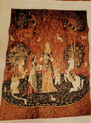 Tapiz de la Dama del Unicornio hecho a mano