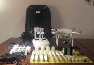 Dji Phantom 3 Advanced (V2) + 3 baterias + mochila