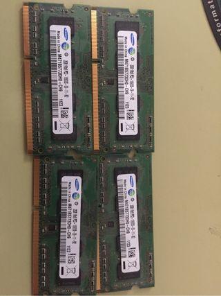 Memoria portatil ddr3 8 gb 1333 4x2gb