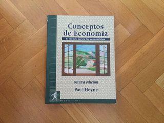 """Libro """"Conceptos de Economia"""" de Paul Heyne"""