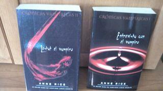 dos libros de anne rice