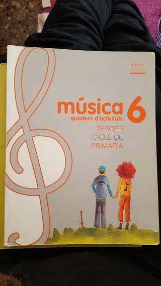 Libro escolar Música 6. Isbn: 978-84-8131-856-2