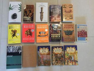 Lote libros de novela historica
