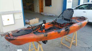 kayak a pedales con todos los extras