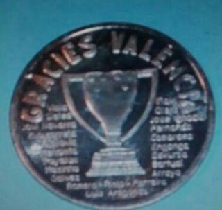 Moneda de plata VALENCIA CF 95/96