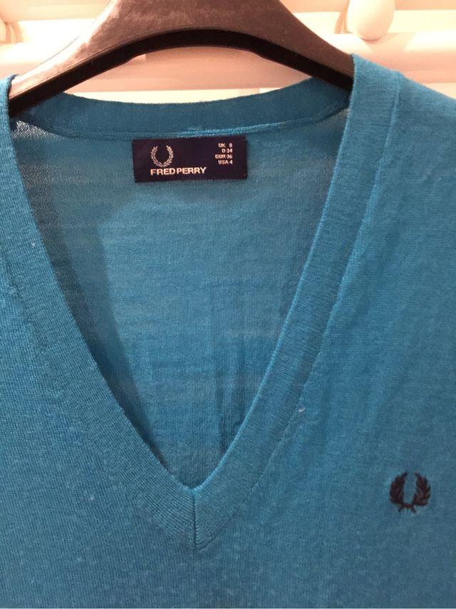 Vestido punto azul turquesa de Fred Perry