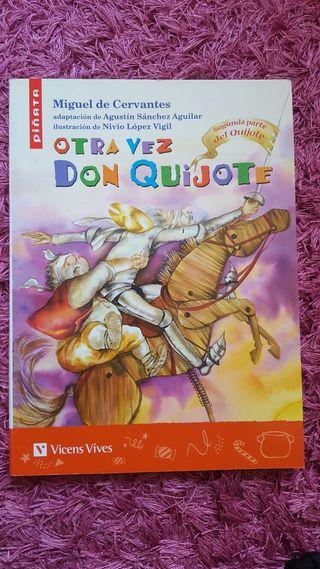 "Libro lectura ""otra vez don quijote"""