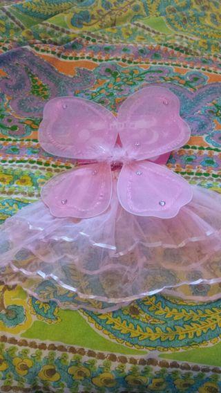 disfraz de mariposa infantil para tres o cuatro añ
