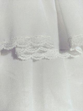 Cancan vestido de novia cola