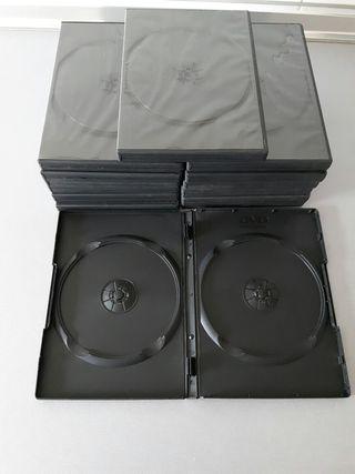 14 Estuches,cajas,carcasas,funda dobles dvds