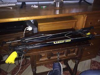 2 Fusils de pesca submarino,