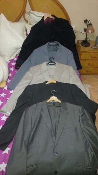 lote 5 trajes caballeros T_58 CHAQUEY T_48 PANTALÓ