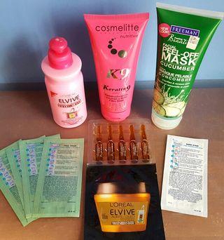 Lote 7 Items Belleza Cabello y Facial