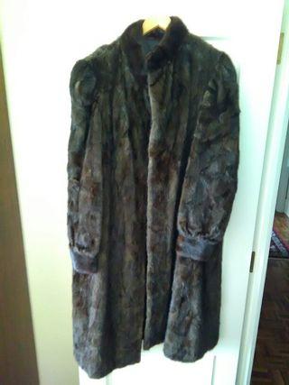 abrigo de vison autentico