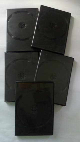 10 Cajas para DVD doble.