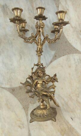 candelabros y reloj cocabines