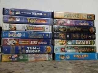 Lote de 18 VHS películas infantiles