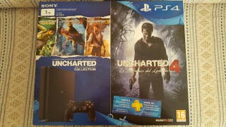 PLAYSTATION 4 SLIM 1TB + PACK UNCHARTED