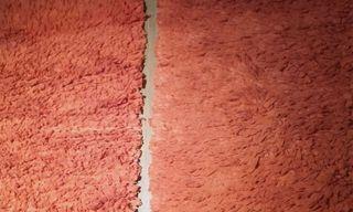 2 alfombras naranjas 1,10 x 60