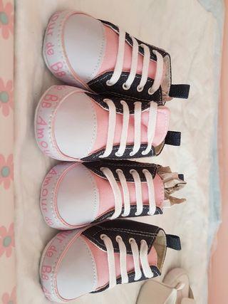 Zapatillas bebe tipo converse marca BB nuevos