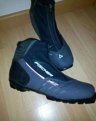 esqui fondo botas fischer