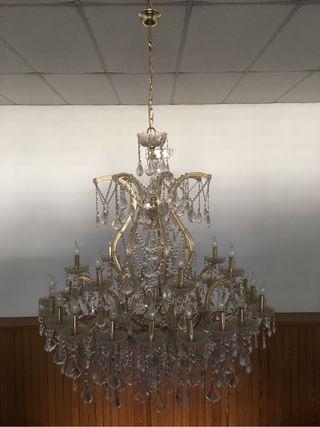 Lámpara de colgar de cristales