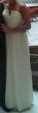 vestido fiesta largo amarillo pastel 34/36