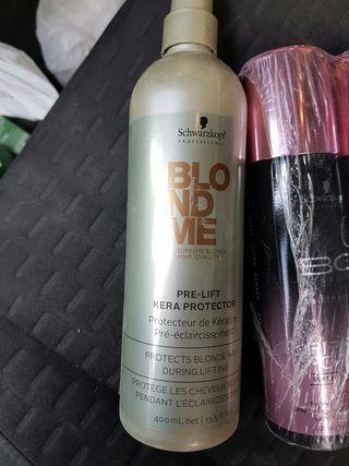 schwarzkopf champú Blondme pre-lift kera protector
