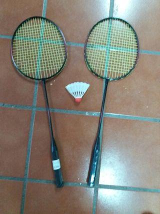 juego raquetas badmington