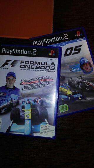Pack Formula 1 para PS2. F1 2003 y F1 05