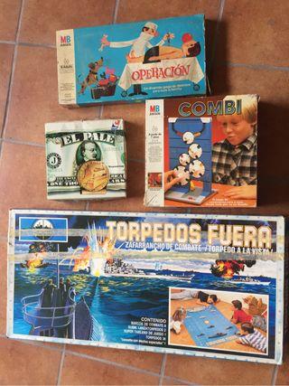 Juegos en caja años 80 incompletos