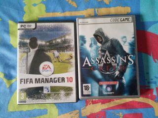 Asasains Creed y Fifa Football manager 10