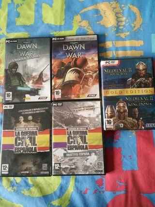 Pack de 6 juegos de estrategia para PC