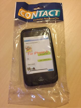 Funda goma/silicona para iphone 4 Nueva
