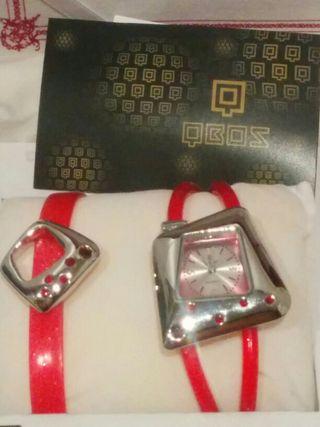 Conjunto reloj y pulsera pendientes