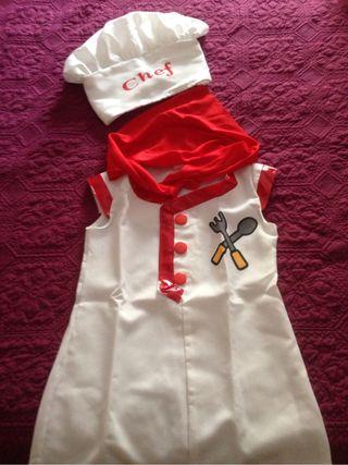 Disfraz de cocinero/a t:2/4