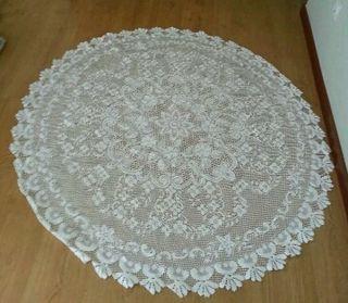 Mantel mesa redonda camilla tapete ganchillo