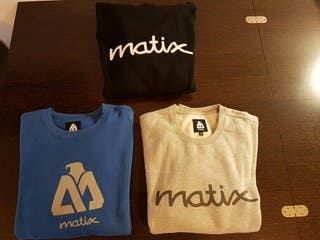 Lote de 3 suaderas MATIX talla M skate surf